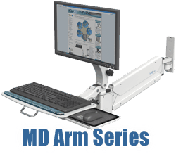 MD monitor and keyboard arm