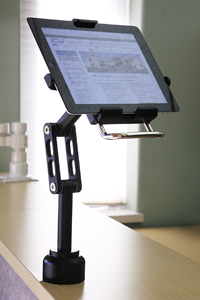 Professional Adjustable Tablet Mount for kiosks and point of purchase locations