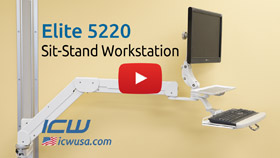 Elite 5220 wall mount video