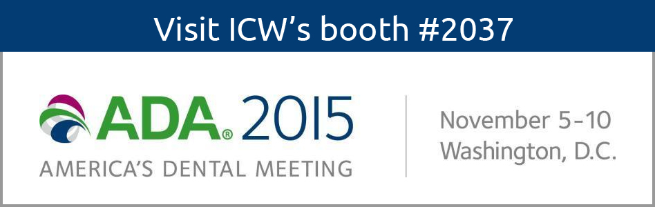 Visit Icw S Booth 2037 At The 2015 American Dental Meeting
