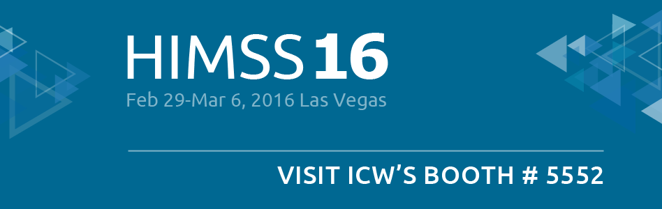 Visit ICW's booth at HIMSS 2016