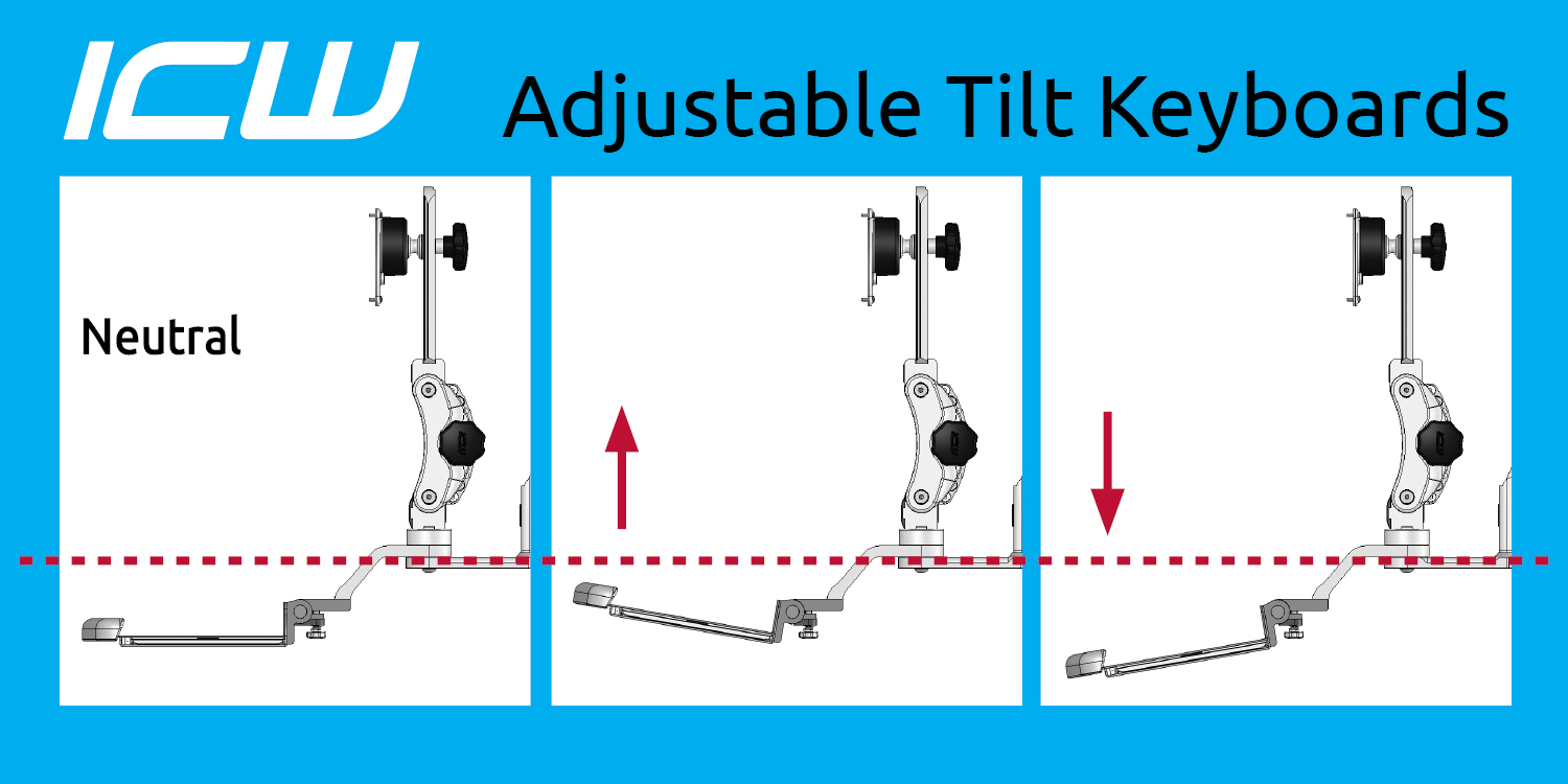 Ergonomic Keyboard Tilt Diagram