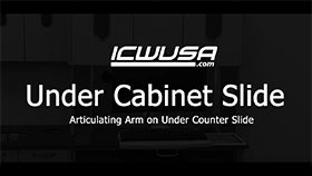 Under Cabinet Slide - Articulating Arm on Counter Slide