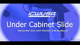 Under Cabinet Slide - Horizontal Arm and Keyboard