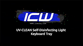 UV Clean Disinfecting Light Keyboard Tray